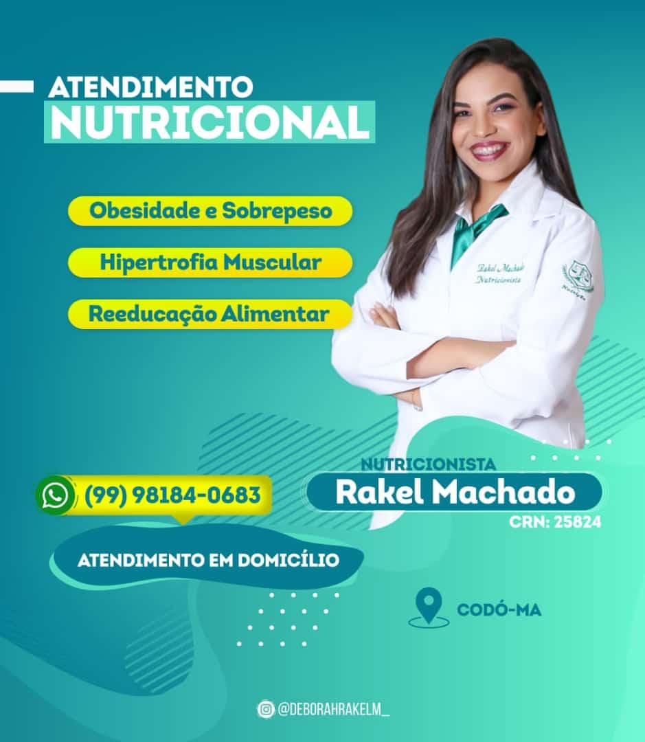 Nutricionista Rakel Machado